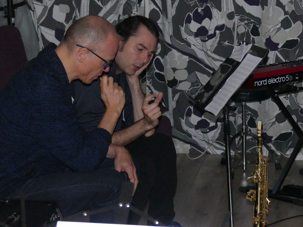 Yannick et Olivier en pleine concentration