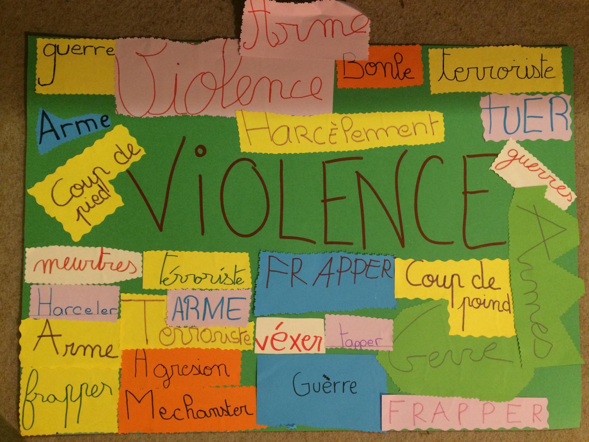 Les mots de violence